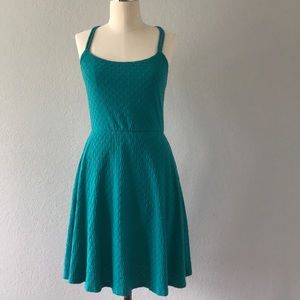 Mossimo supply turquoise tank top dress